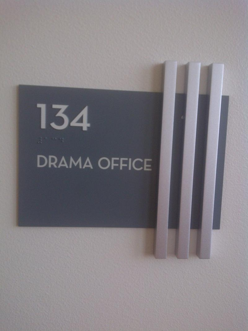 custom ADA braille signage